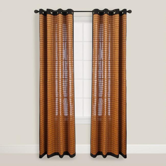 Bark Bamboo Curtains with Grommets