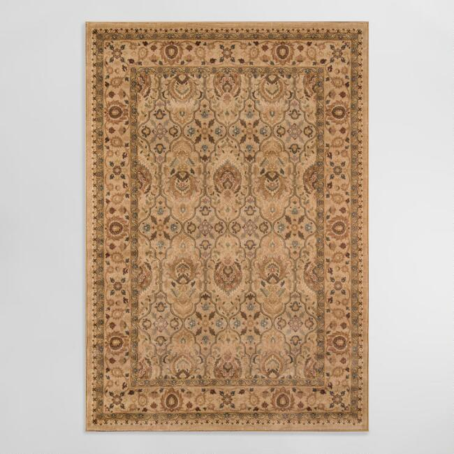 Tan Feather Area Rug