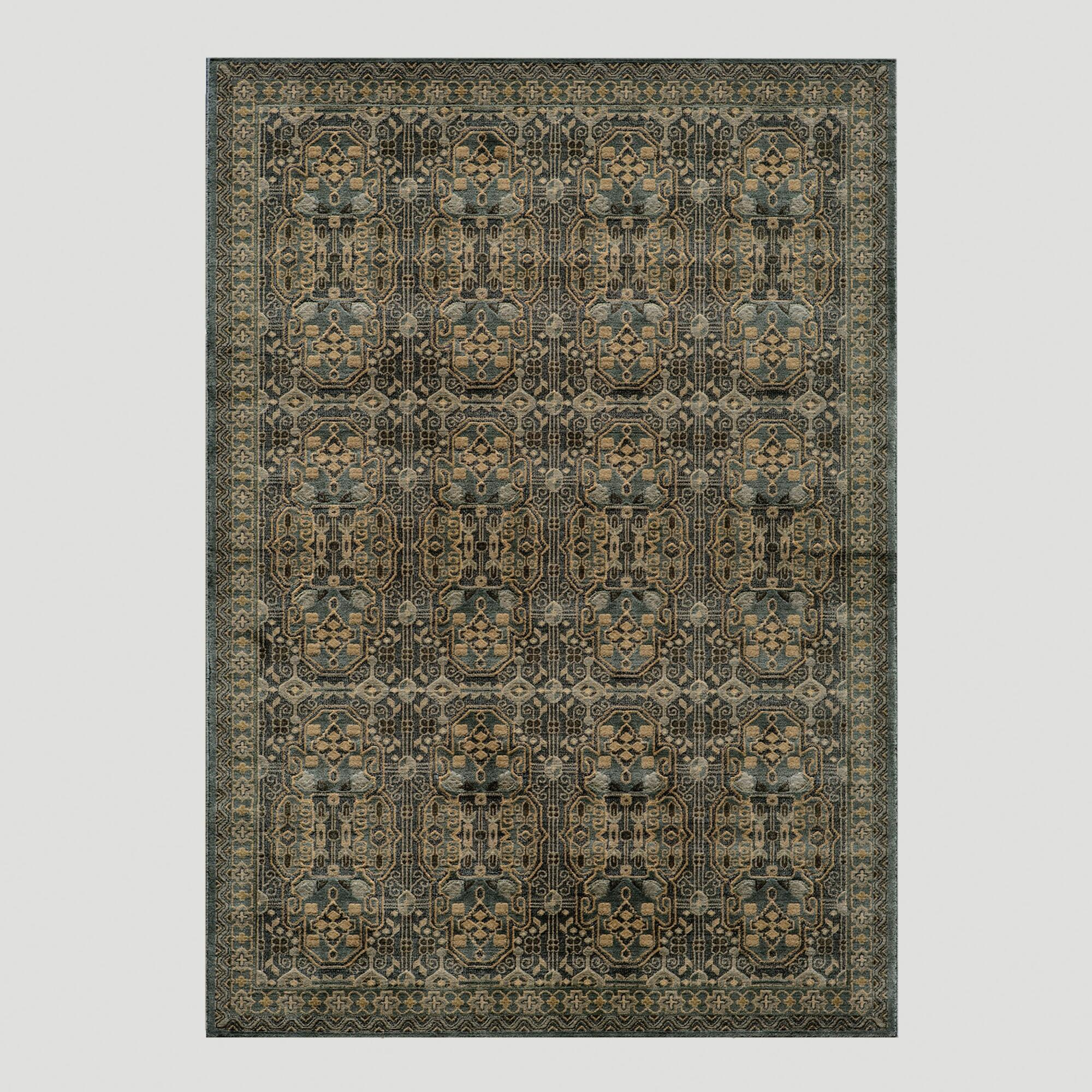 light christopher tufted kaleen kashan pin rug rugs hand x brown