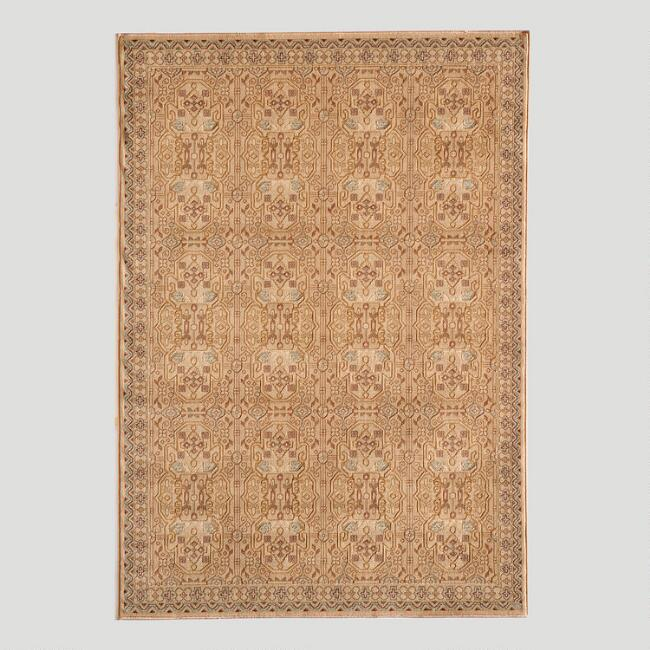 Ivory Stained Glass Rug