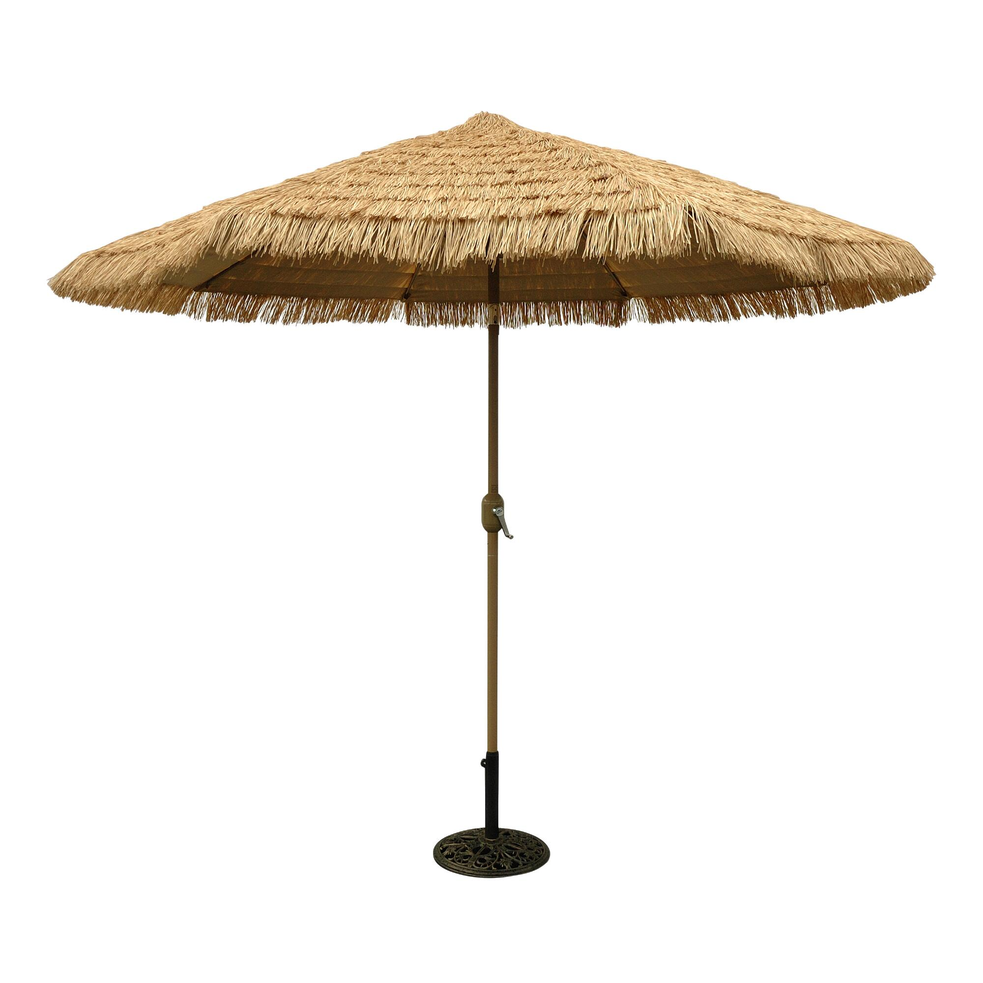 9-ft. Thatched Market Umbrella: Natural - Fabric by World Market