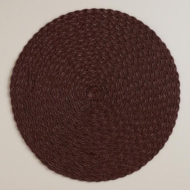 Java Round Polybraid Placemats, Set of 4