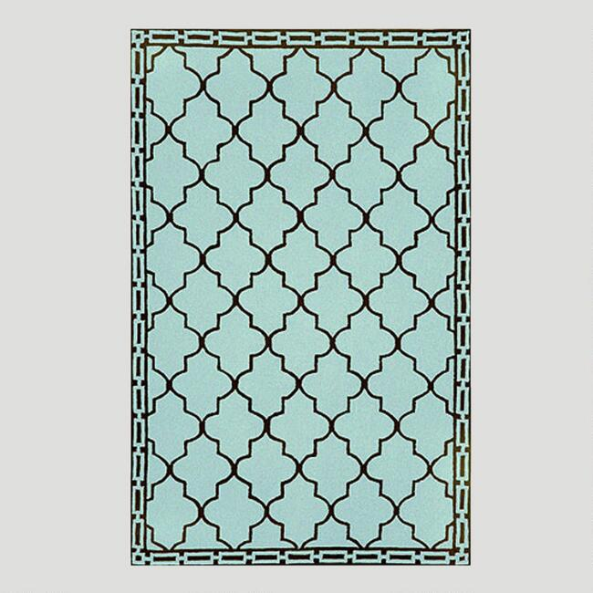 Aqua Floor Tile Indoor-Outdoor Rug