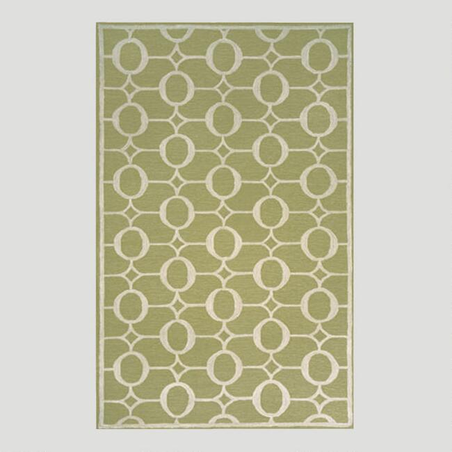 Sage Arabesque Indoor-Outdoor Rug