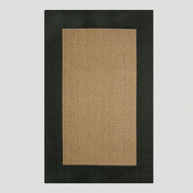 Black Border Indoor Outdoor Rug