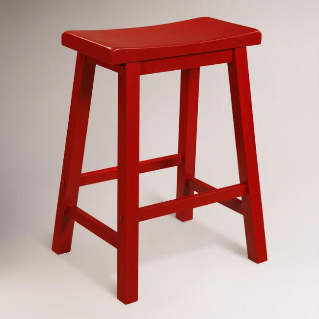 Red Schoolhouse Counter Stool