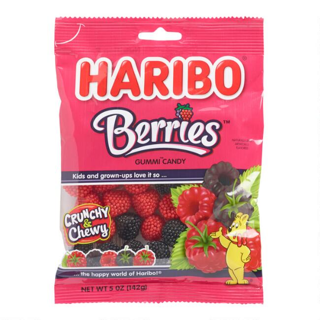 Haribo Berries Gummy Candy Set Of 12