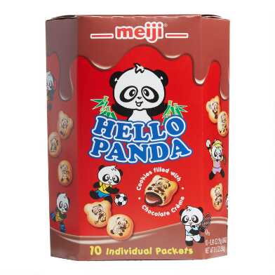 Meiji Hello Panda Chocolate Cookies 10 Pack
