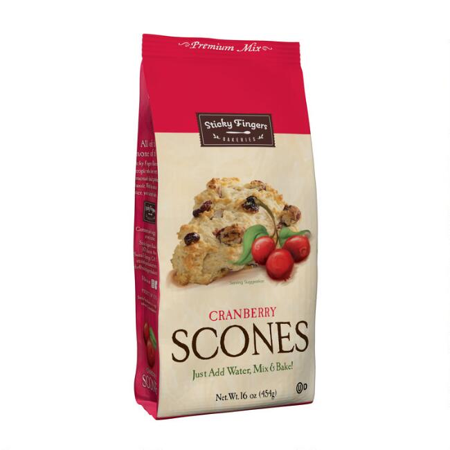Sticky Fingers Bakeries Cranberry Scone Mix, Set of 6