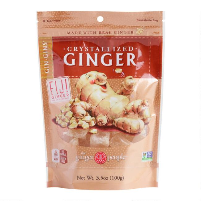 The Ginger People Gin-Gins Crystallized Ginger Set Of 6