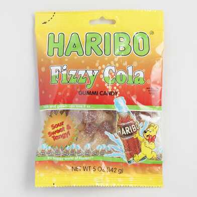 Haribo Fizzy Cola Gummy Candy Set Of 12
