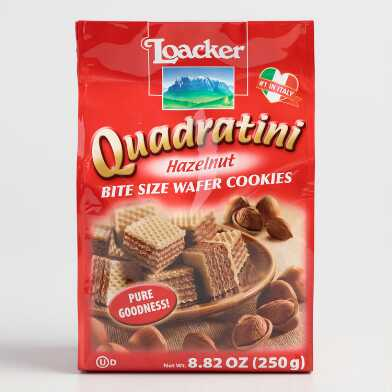 Loacker Quadratini Hazelnut Wafers