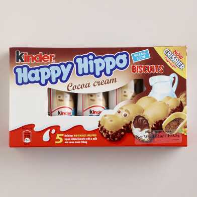 Kinder Happy Hippo Cocoa Cream Biscuits 5 Pack
