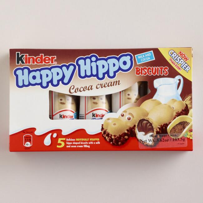 Kinder Happy Hippo Cocoa Biscuits, Set of 5