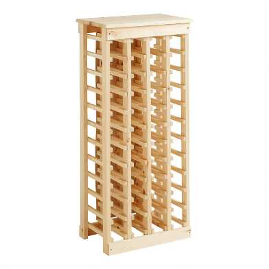 Pine Wood 44 Bottle Wine Rack