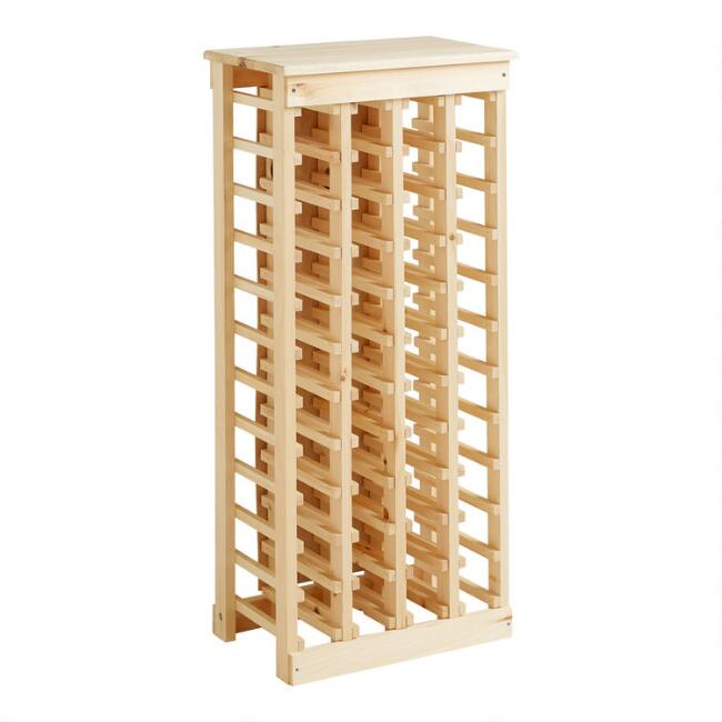 Pine 44-Bottle Wine Rack