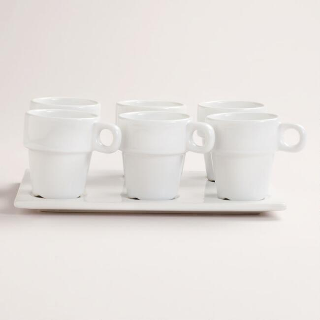 Mini Tasting Mugs with Platter Set