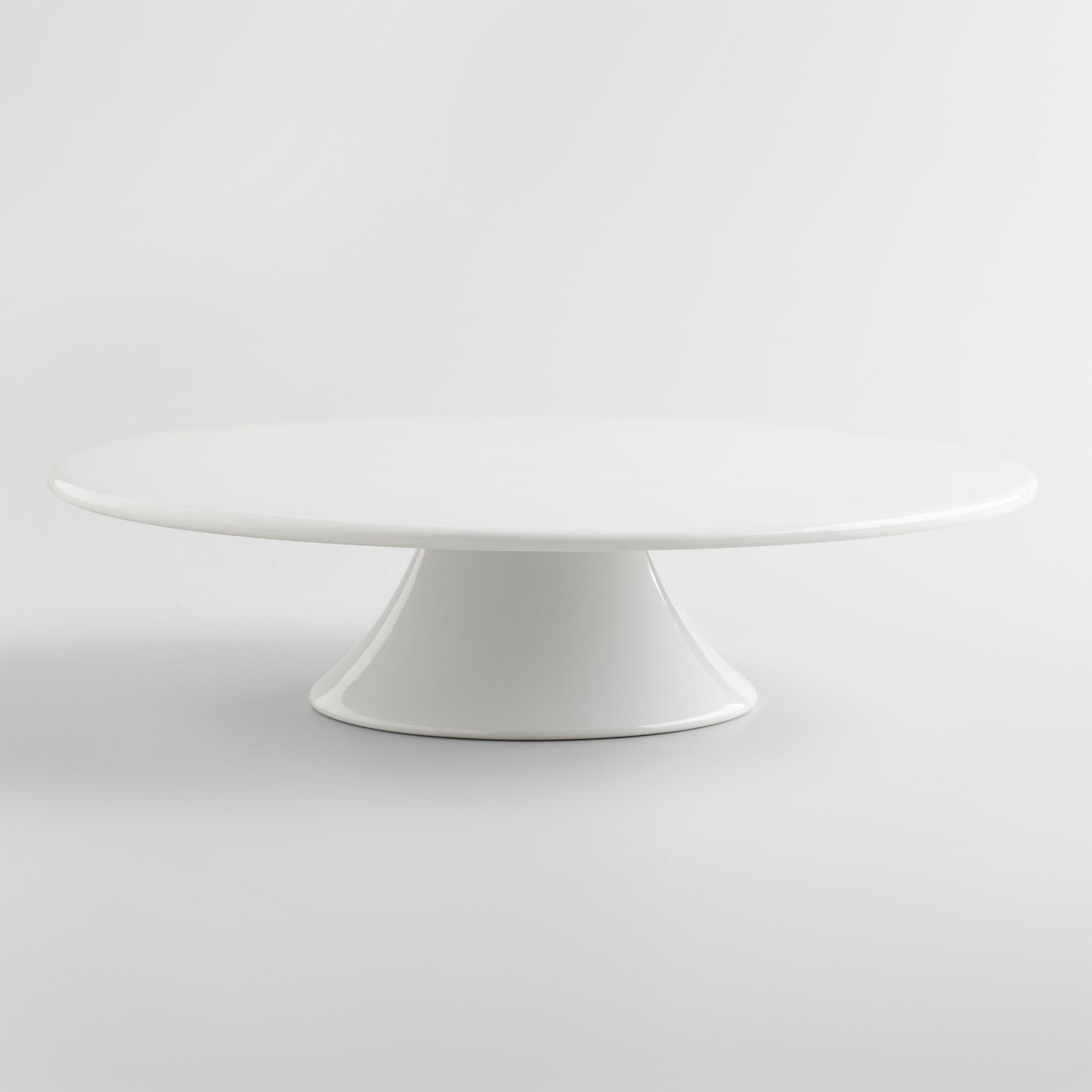 White Porcelain Cake Stand by World Market
