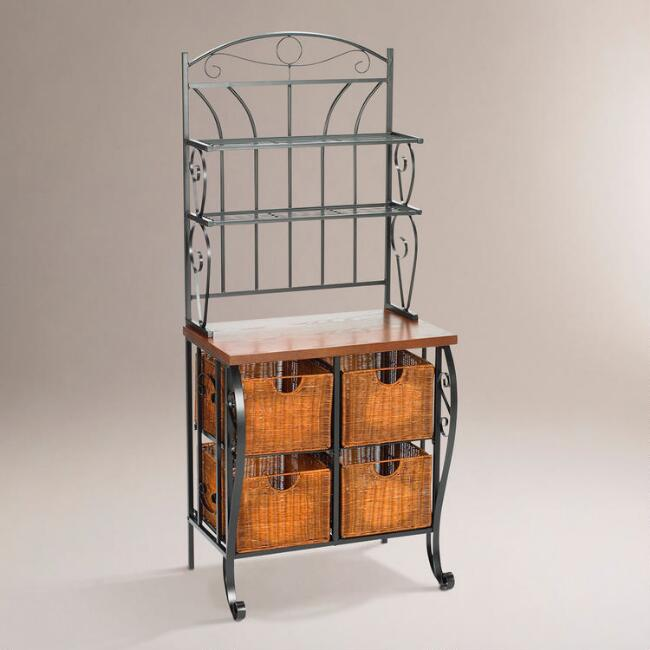 Hillsdale Baker's Rack with Baskets