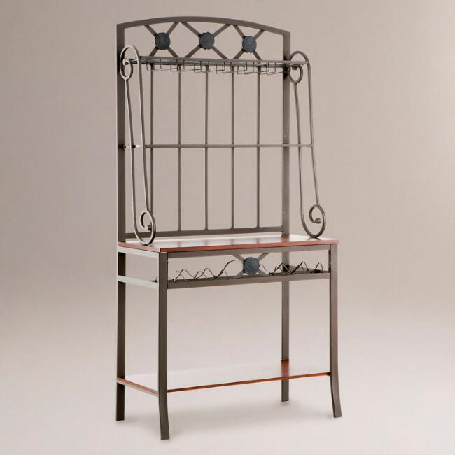 Manor Baker's Rack with Wine Storage