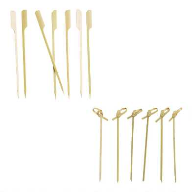 Bamboo Knot Picks or Skewers