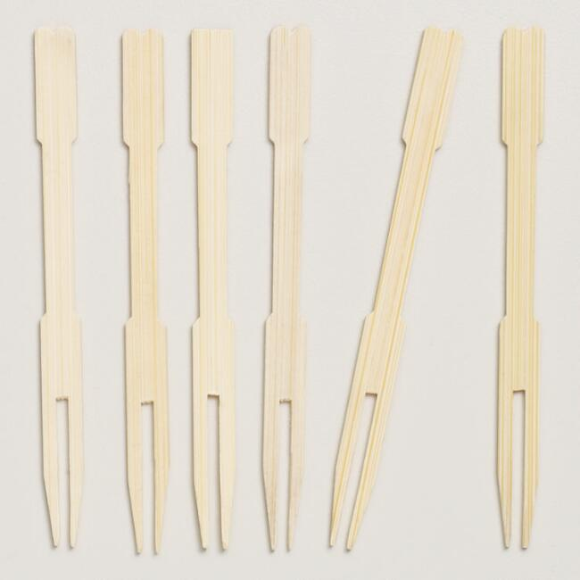 Bamboo Forks, Sets of 100