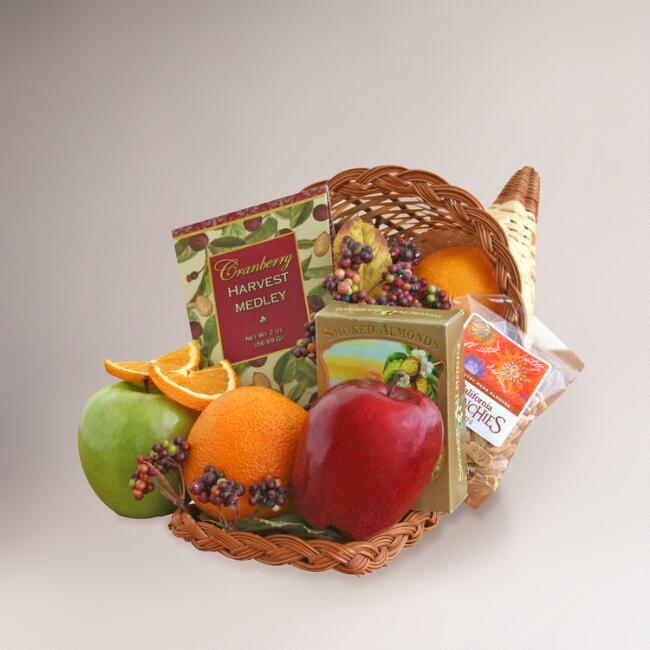Fall Fresh & Bountiful Cornucopia Gift Basket