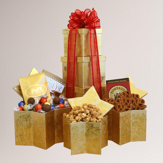 Holiday Superstar Gift Tower