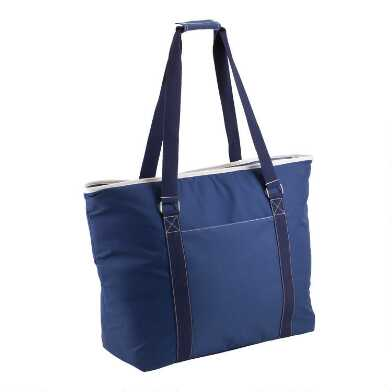 Blue Insulated Cooler Tote
