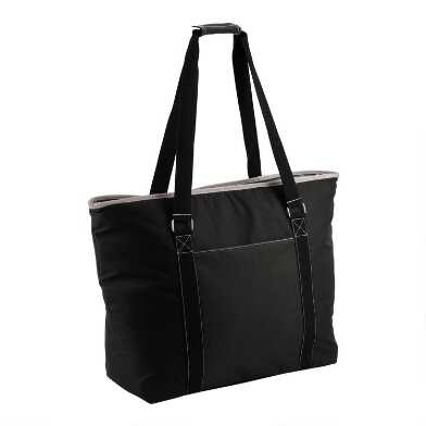 Black Insulated Cooler Tote