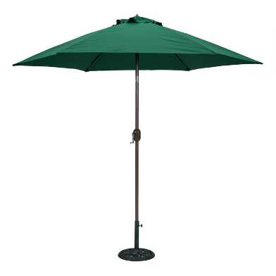 Green 9 Ft. Tilting Outdoor Umbrella