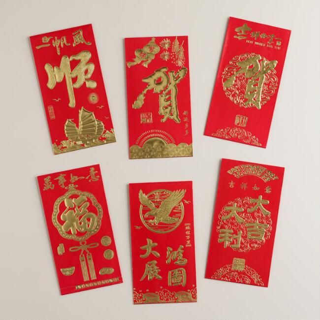 Chinese New Year Packets 6 Pack
