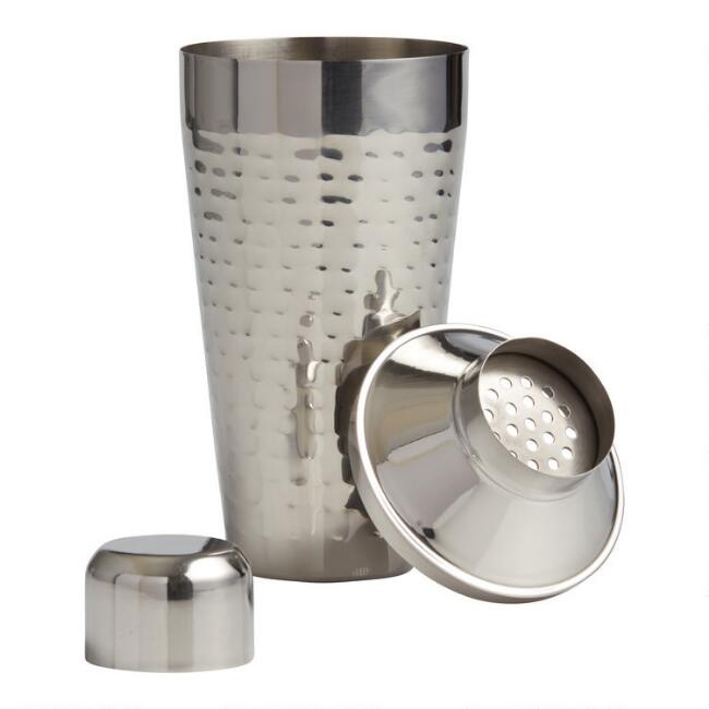 Hammered Stainless Steel Cocktail Shaker