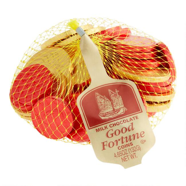 Steenland Mesh Bag of Good Fortune Candy, Set of 6