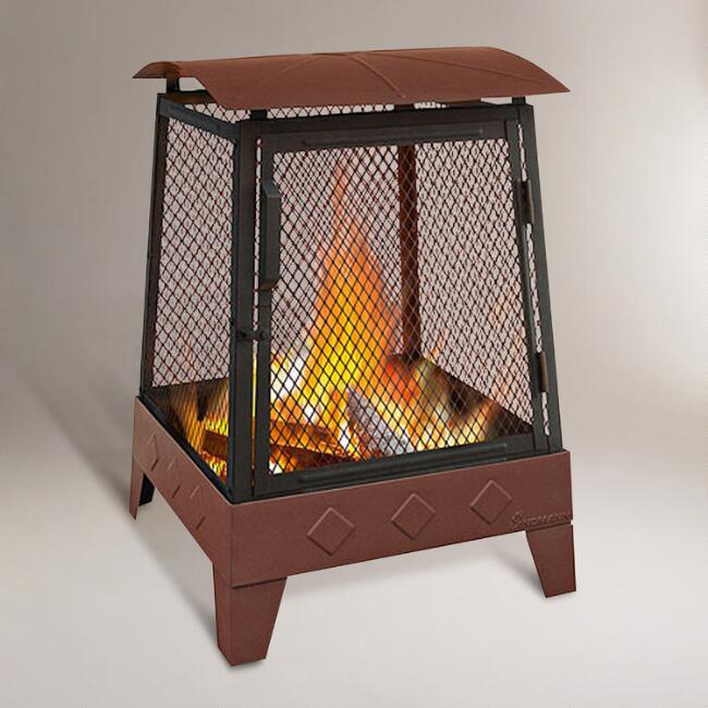 Embossed Diamond Fire Pit