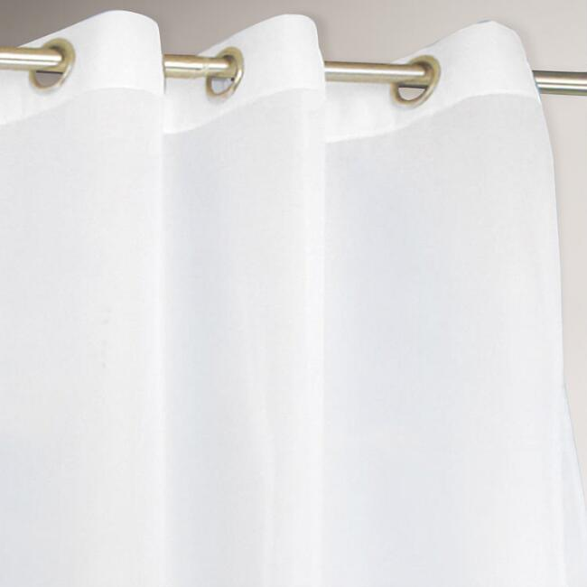 White Escape Grommet Top Outdoor Curtain