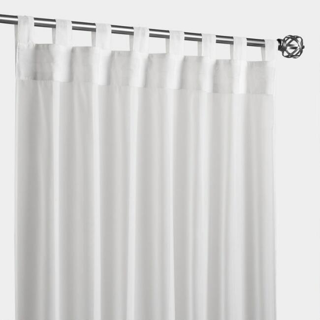 Ivory Escape Tab Top Outdoor Curtain