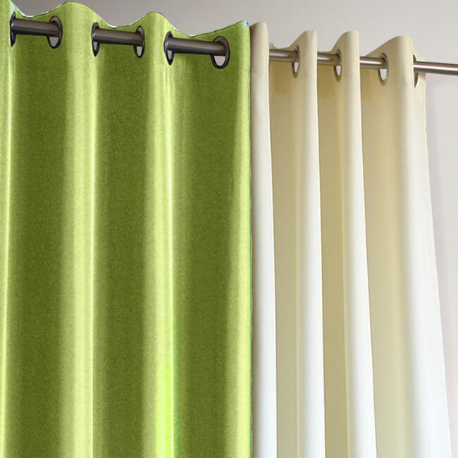 Green Gazebo Grommet Top Outdoor Curtain