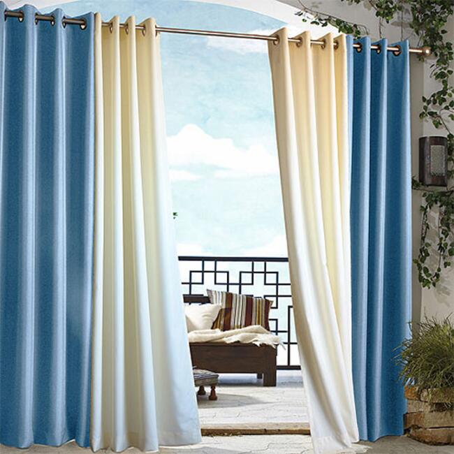 Blue Gazebo Grommet Top Outdoor Curtain