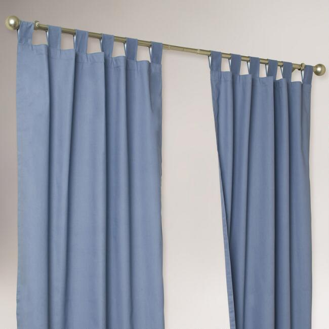 ThermalogicR Blue Weathermate Curtains Set Of 2