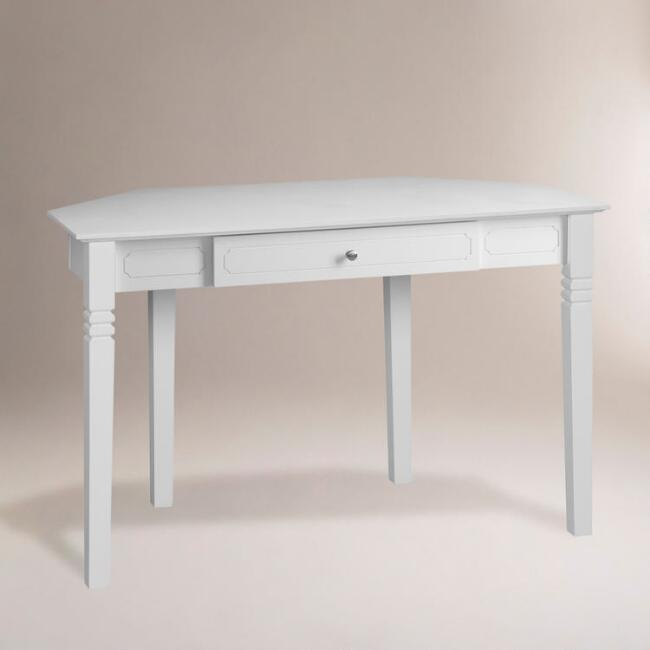 White Douglas Corner Desk