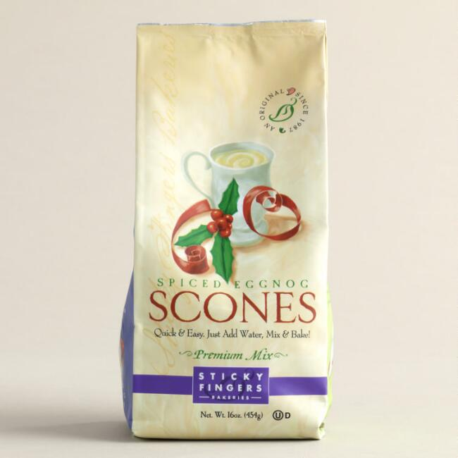 Sticky Fingers Bakeries Spiced Eggnog Scone Mix, Set of 6