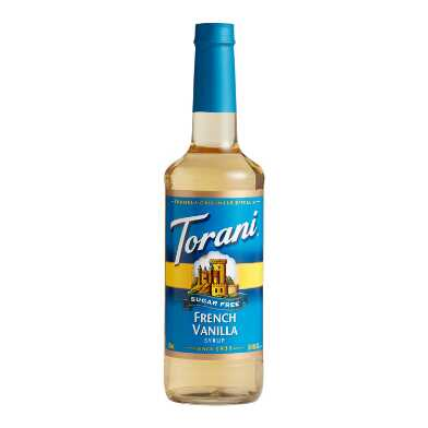 Torani Sugar Free French Vanilla Syrup Set of 12