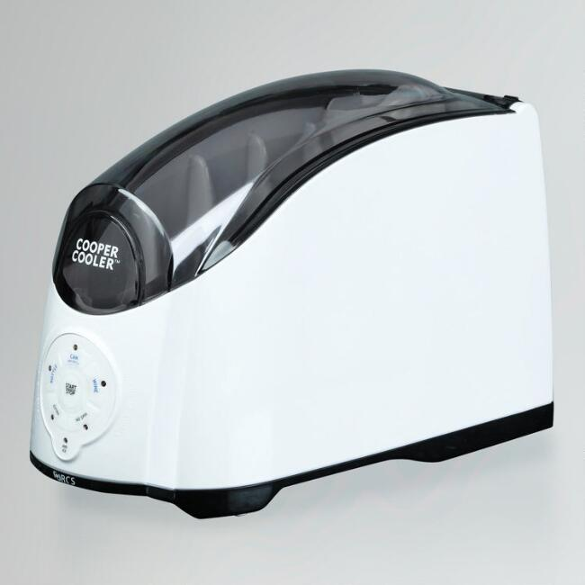 White Cooper Cooler Rapid Beverage and Wine Chiller