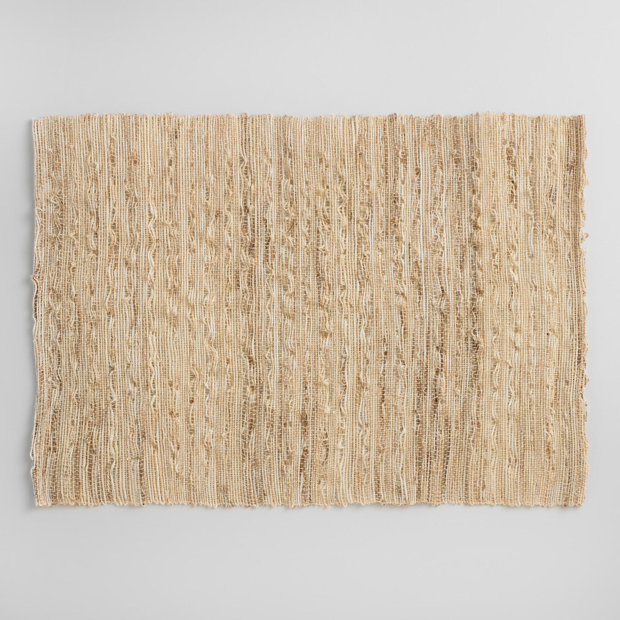 Woven Fiber Placemats Set of 4 - Natural Fiber by World Market