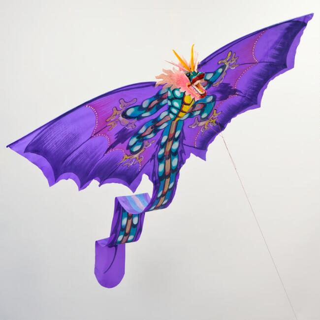 Purple Balinese Dragon Kite