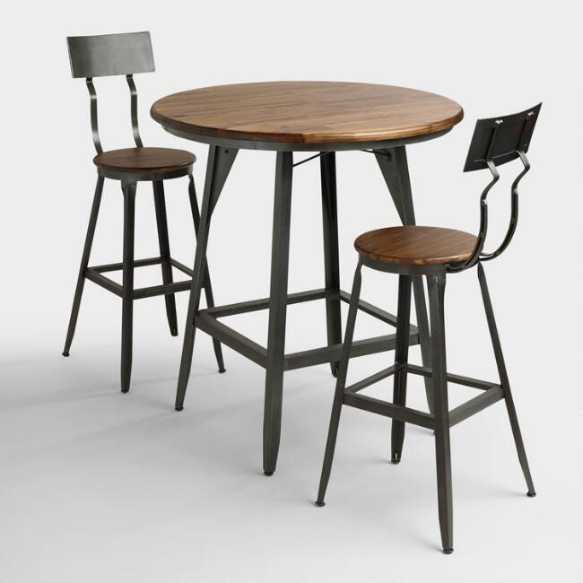 Wood and Metal Hudson Pub Table Collection