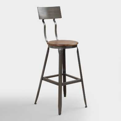 Wood and Metal Hudson Pub Stool