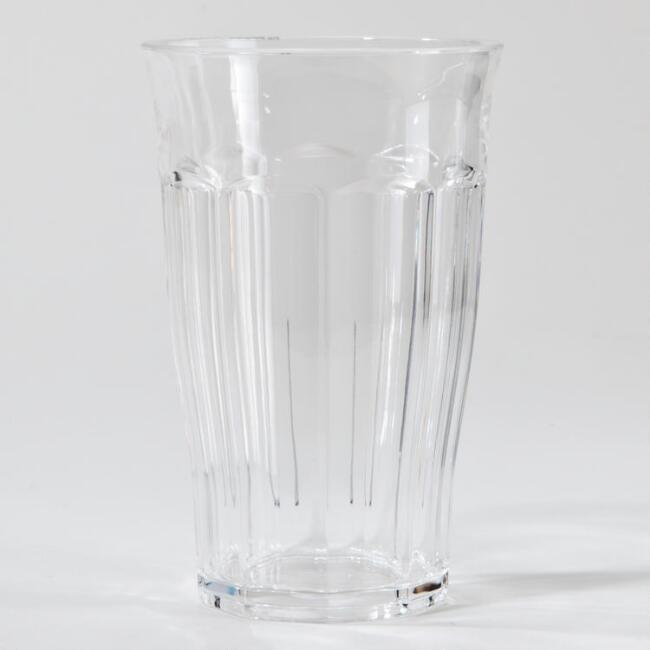 Clear Acrylic Highball Tumblers, Set of 4