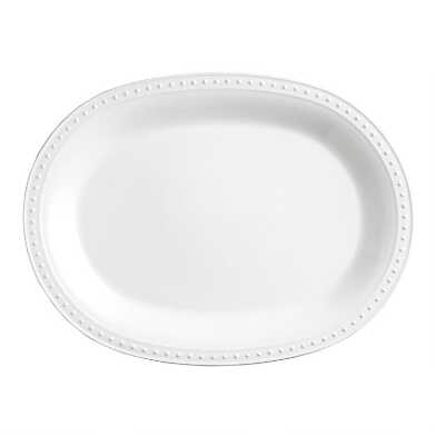 White Nantucket Serving Platter